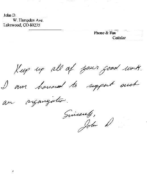 donor letter
